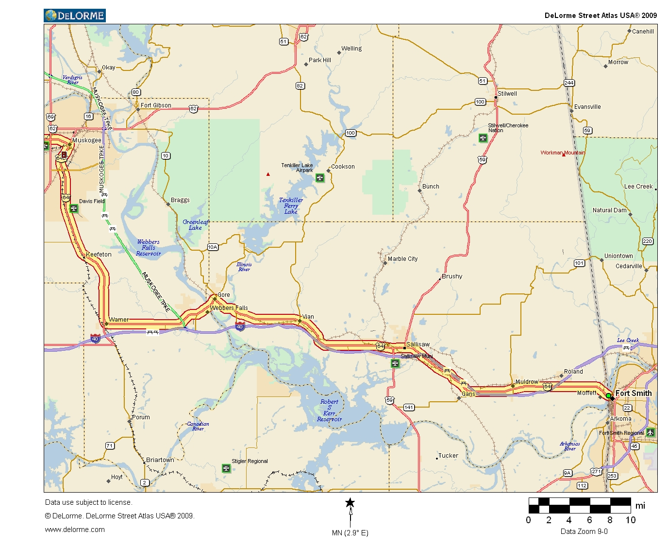 Oklahoma Highways Original Oklahoma Route - Us highway map route 10