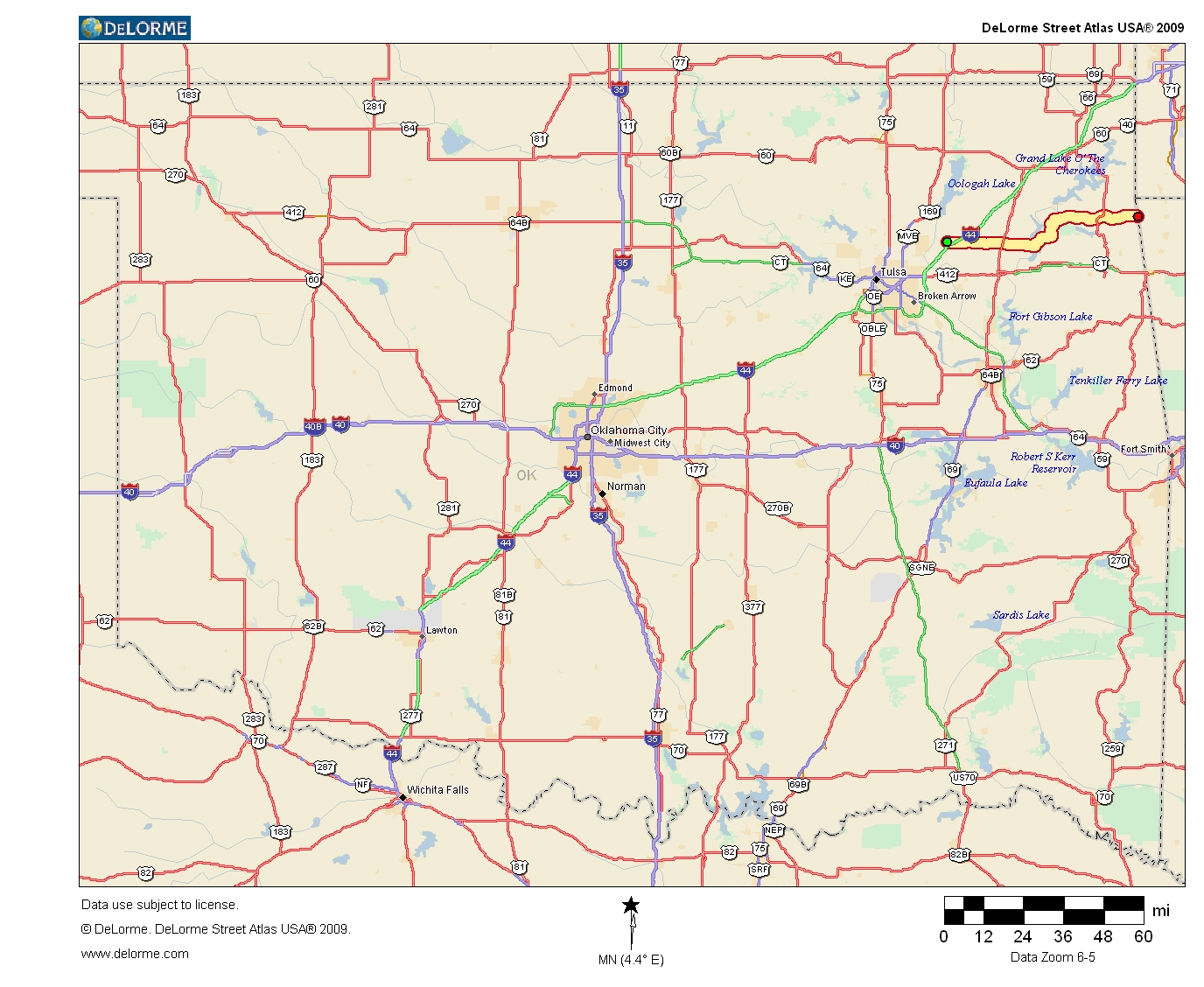 Oklahoma Highways Original Oklahoma Route - Oklahoma highway map