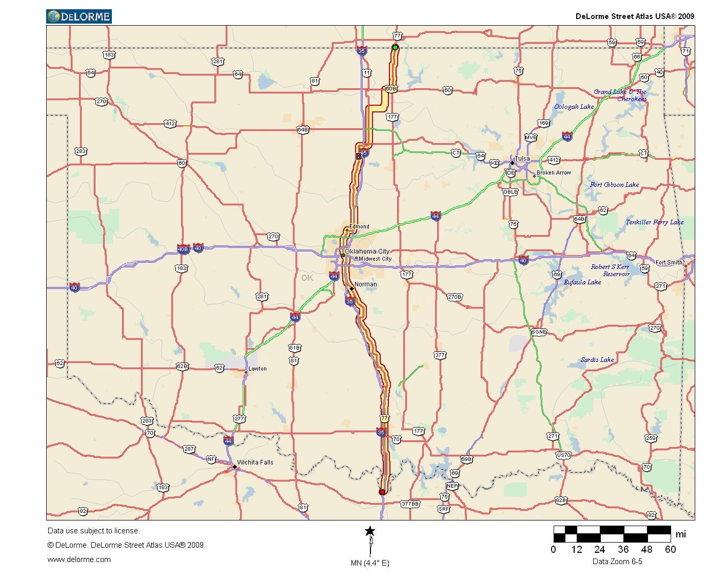 Oklahoma Highways - Original Oklahoma Route 4 on ks highway map, western kansas highway map, missouri hwy map, kansas road map with cities,