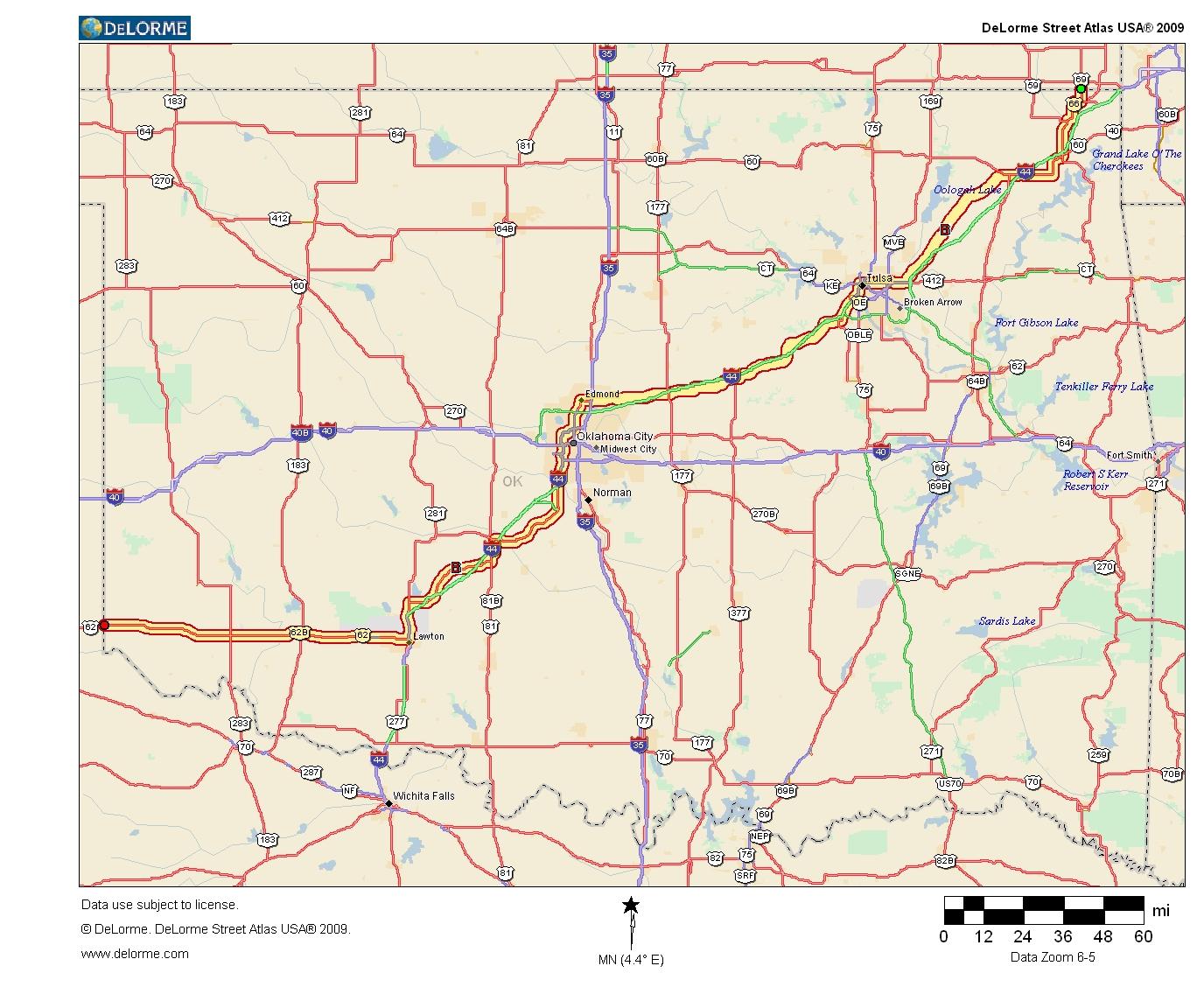 Oklahoma Highways Original Oklahoma Route 7