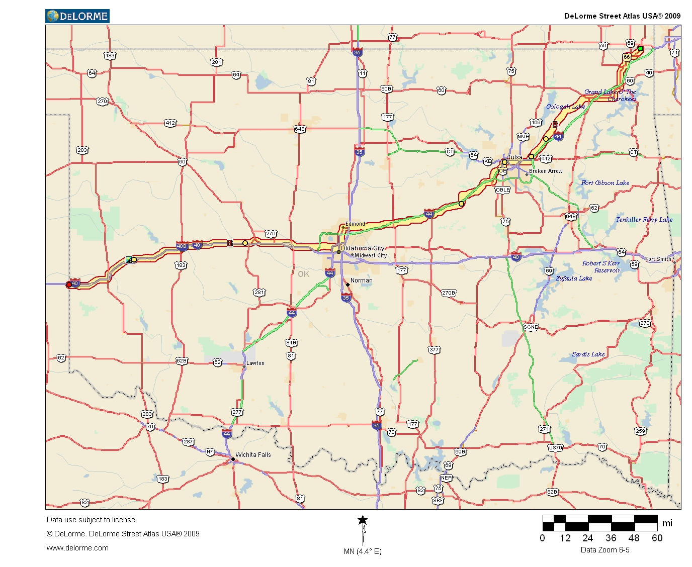 Oklahoma Highways US Route In Oklahoma - Oklahoma map us