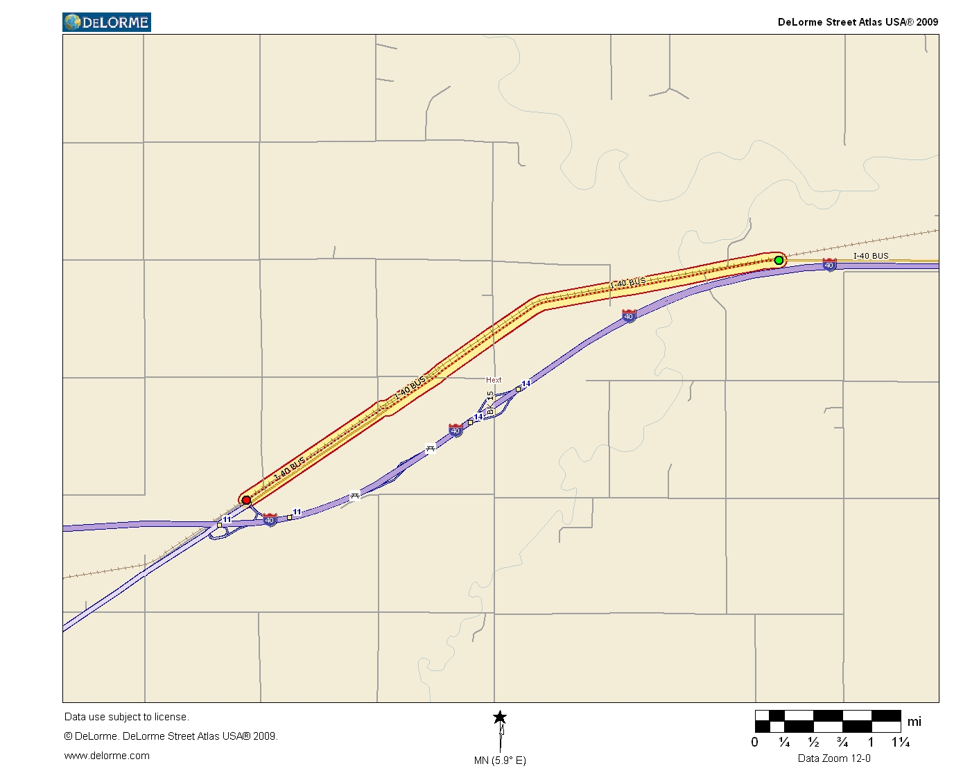 Oklahoma Highways US Route In Oklahoma - Us i 40 map