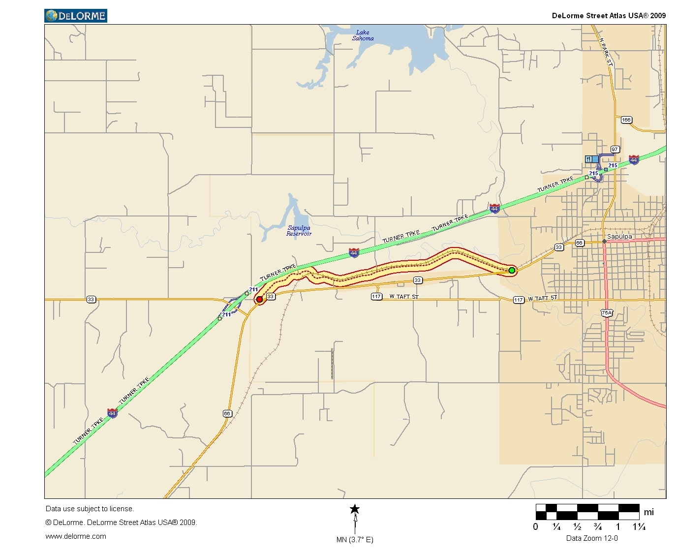 Oklahoma Highways US Route In Oklahoma - Us 66 map