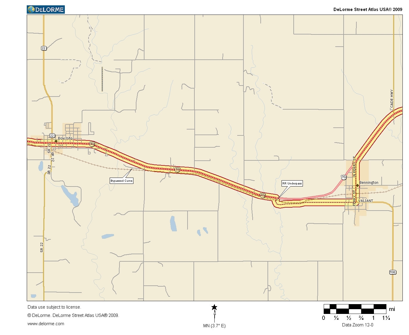 Oklahoma Highways US Route 70 Durant to Hugo