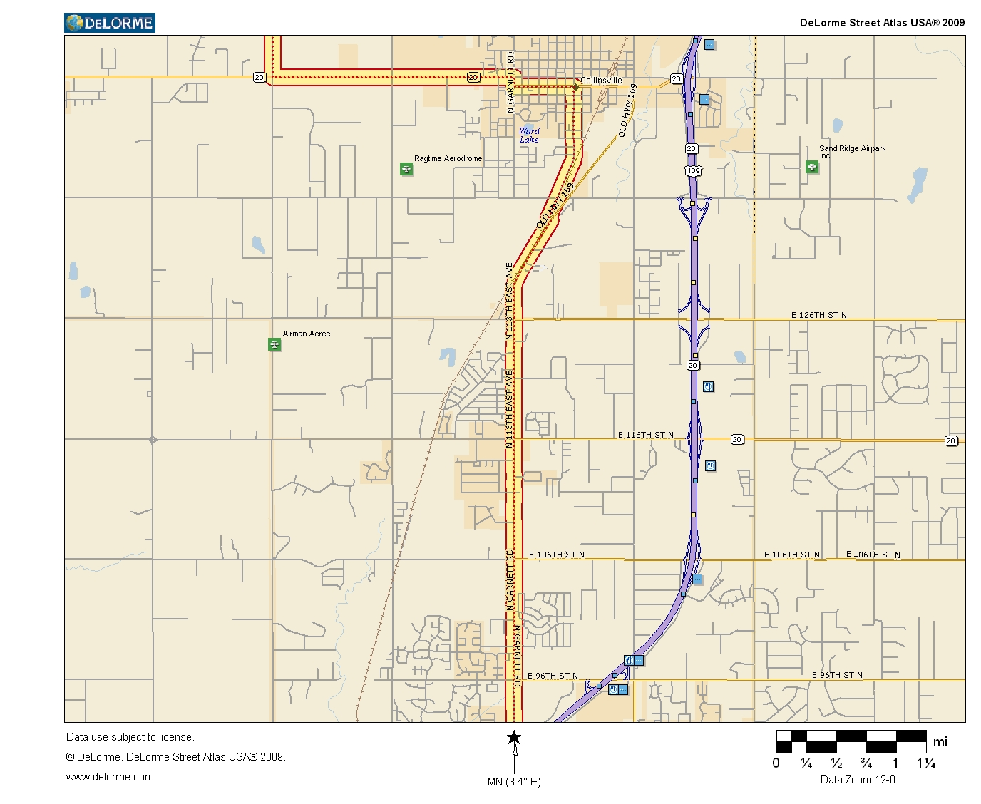Oklahoma Highways US Route Tulsa To Caney KS - Oklahoma highways map